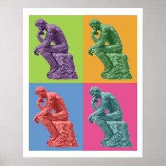 Le penseur de Rodin - art de bruit