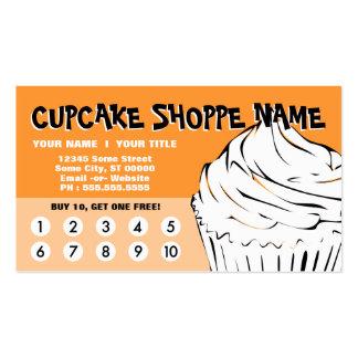 le petit gâteau courbe la fidélité carte de visite standard