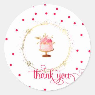 Le petit gâteau de ★ vous remercient sticker rond