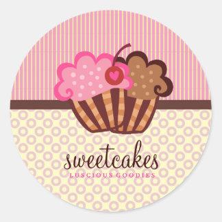 Le petit gâteau doux de 311 gâteaux pointille des sticker rond