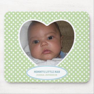 Le petit homme de la maman : Coeur vert : Image Mo Tapis De Souris