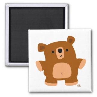 Le peu d'ours magnet carré