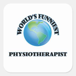 Le physiothérapeute le plus drôle du monde sticker carré