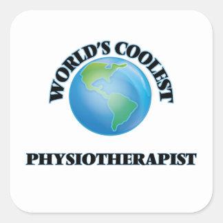 Le physiothérapeute le plus frais du monde stickers carrés
