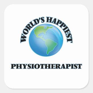 Le physiothérapeute le plus heureux du monde sticker carré