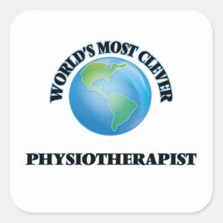 Le physiothérapeute le plus intelligent du monde sticker carré