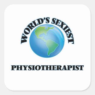 Le physiothérapeute le plus sexy du monde sticker carré
