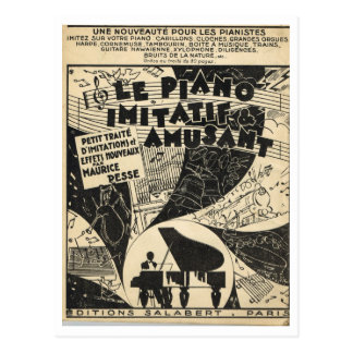 Le Piano Imitatif et Amusant,  sheet music Postcard