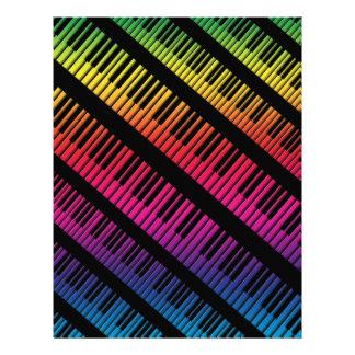 Le piano verrouille l arc-en-ciel de couleur tract personnalisé