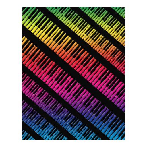 Le piano verrouille l'arc-en-ciel de couleur tract personnalisé