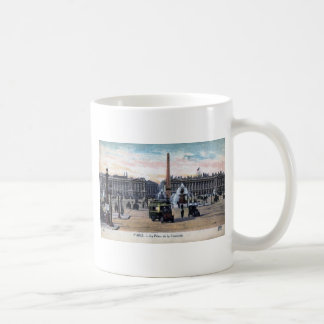 Le Place de la Concorde Paris France Vintage Coffee Mug