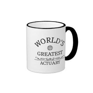 Le plus grand actuaire du monde tasses à café