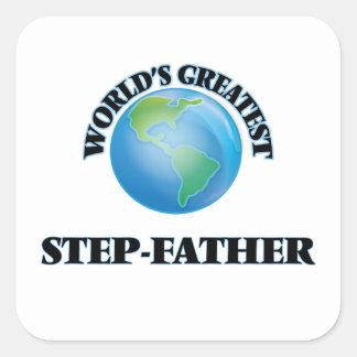 Le plus grand beau-père du monde sticker carré