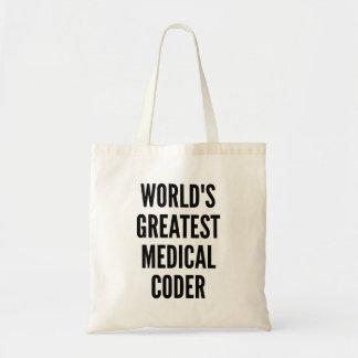 Le plus grand codeur médical des mondes sac en toile budget