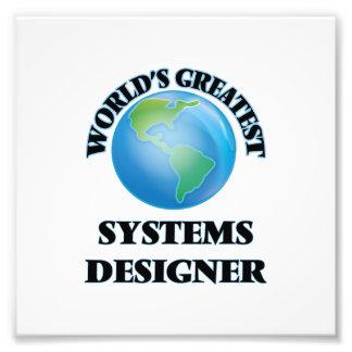 Le plus grand concepteur de systèmes du monde impressions photographiques