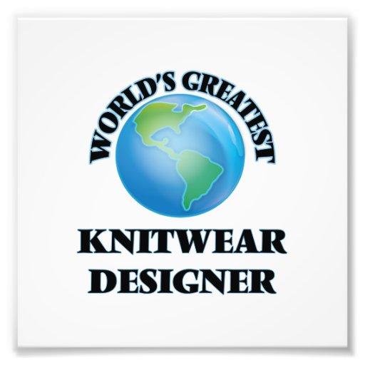 Le plus grand concepteur des tricots du monde photo d'art