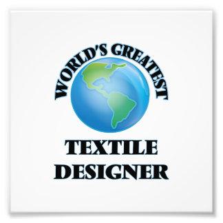 Le plus grand concepteur du textile du monde tirage photo