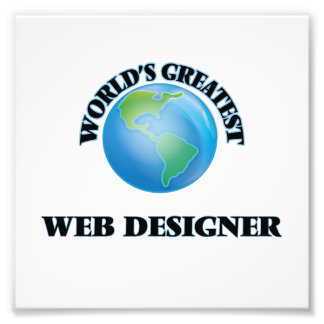 Le plus grand concepteur du Web du monde Impression Photo