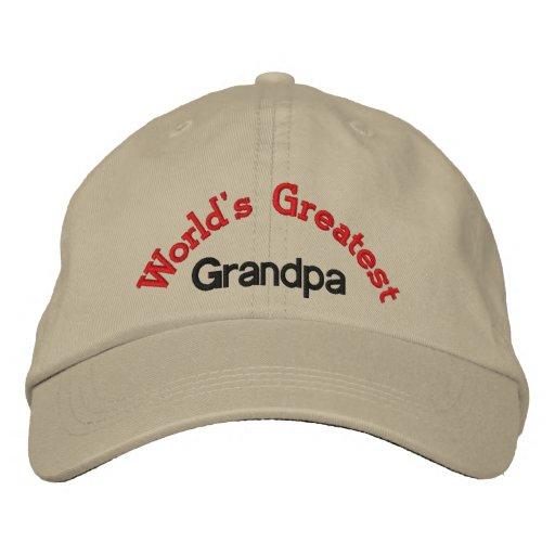 Le plus grand grand-papa du monde chapeau brodé