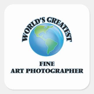 Le plus grand photographe des beaux-arts du monde sticker carré