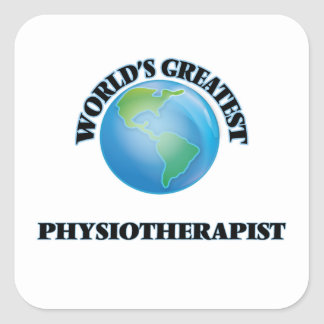 Le plus grand physiothérapeute du monde sticker carré