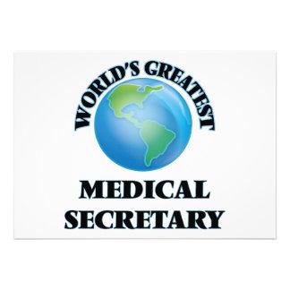 Le plus grand secrétaire médical du monde faire-part personnalisé
