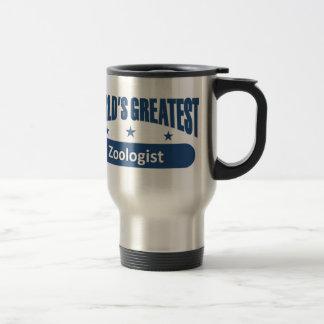 Le plus grand zoologiste du monde mug de voyage en acier inoxydable
