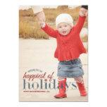 Le plus heureux de la salutation de photo de carton d'invitation  12,7 cm x 17,78 cm