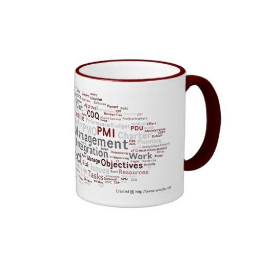 Le PMP frais de chef de projet étiquettent le nuag Mug