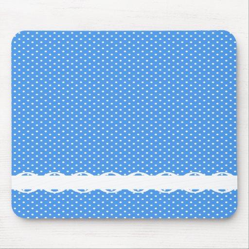 Le pois bleu et le blanc repère le rétro équilibre tapis de souris