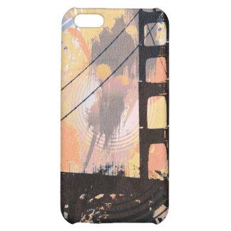 Le pont de jungle de Digitals orange/bleu Coques iPhone 5C