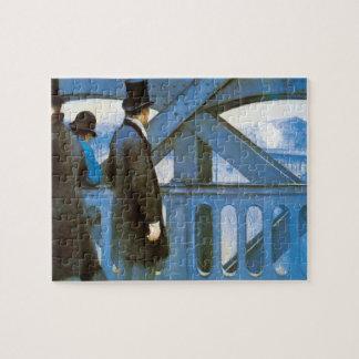 Le Pont de l'Europe by Gustave Caillebotte Jigsaw Puzzle