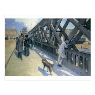 Le Pont de L'Europe by Gustave Caillebotte Postcard