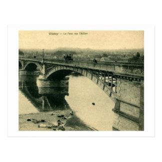 Le Pont sur l'Allier, Vichy France Vintage Postcard