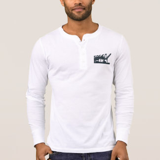 Le port tend le cou la Long-douille Henley T-shirt