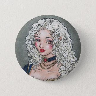 Le Portrait De La Vampiresse Gothic Button