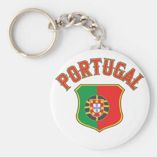 Le Portugal grand et audacieux Porte-clé Rond