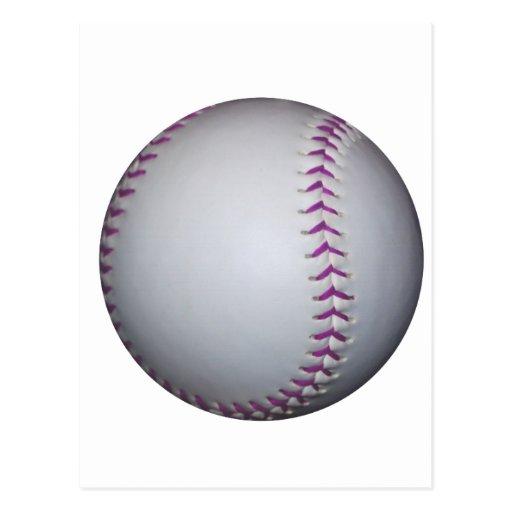 Le pourpre pique le base-ball/base-ball cartes postales