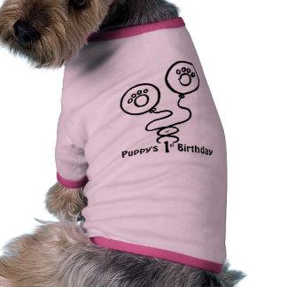 Le premier anniversaire du chiot (personnalisable) manteau pour chien