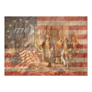 Le premier drapeau américain carton d'invitation  12,7 cm x 17,78 cm