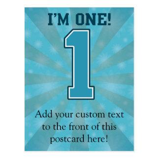 Le premier garçon d anniversaire j ai un ans le carte postale