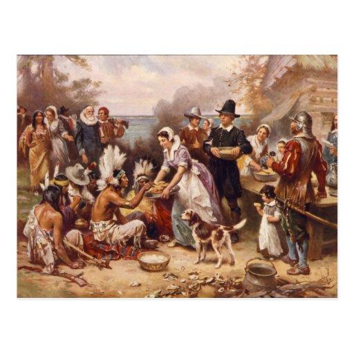 Le premier thanksgiving carte postale