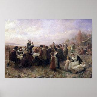Le premier thanksgiving chez Plymouth par Poster