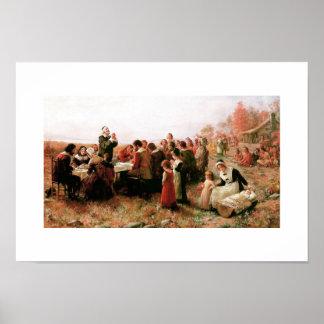 Le premier thanksgiving en affiche de beaux-arts