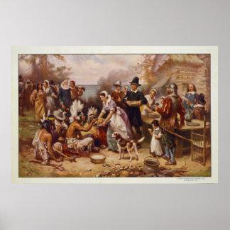 Le premier thanksgiving par Jean Léon Gerome