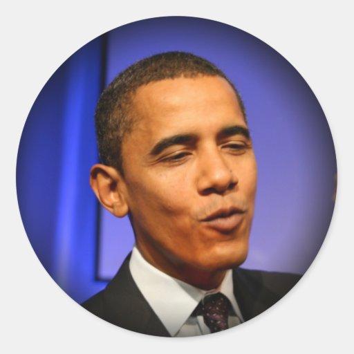 Le Président Barack Obama Autocollant Rond