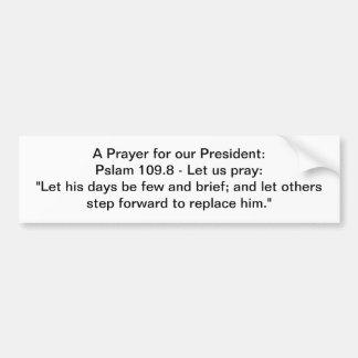 Le Président Prayer Autocollant De Voiture