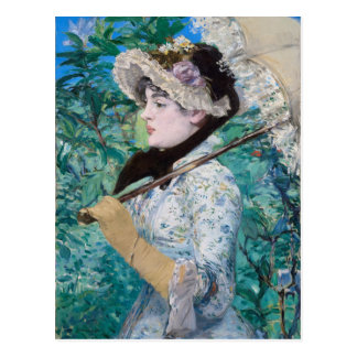 Le Printemps Manet Fine Art Painting Postcard