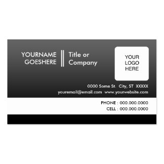 le professionnel se fanent : (2-sided) : modèles de cartes de visite