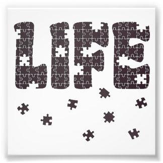 Le puzzle de la vie photo sur toile